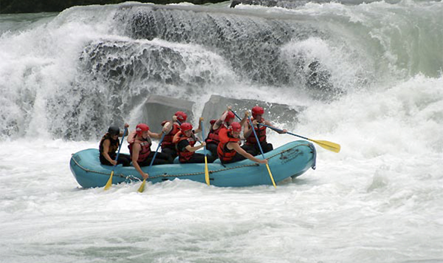 White water rafting at Mica Mountain Lodge