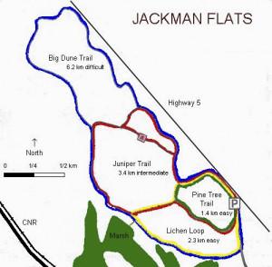 Jackmans Flats Map