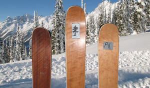 Wide skis and snowboards for rent