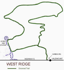 West Ridge Trail Map